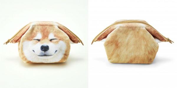 ぺターンとなった耳がポイント♪持っているだけで笑顔になれそうな「柴犬ポーチ」にキュン♡