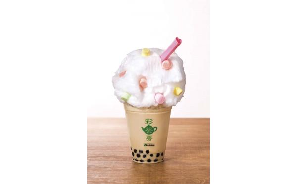 ふわもこで可愛さ倍増♡台湾茶カフェ「彩茶房」が期間限定で「わたあめタピオカミルクティー」を発売