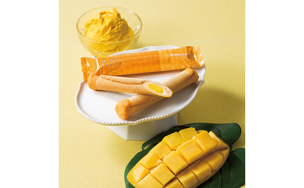 夏にぴったりなトロピカルな味わい♡ヨックモックのシガール アイスクリームにマンゴー味が新登場!