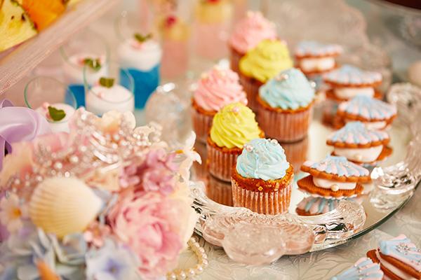 青山セントグレース大聖堂内でスイーツ女子会♡人魚姫がテーマの華やかデザートブッフェが開催!