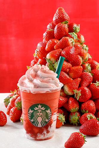 スタバ史上最高のイチゴ感!新作フラぺチーノ「#ストロベリーベリーマッチフラペチーノ」が楽しみすぎる♡