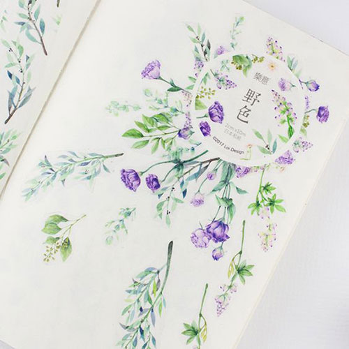 ちょっぴりミステリアスでリッチな花柄♡「秘密の花園マスキングテープ」がヴィレヴァンオンラインに登場
