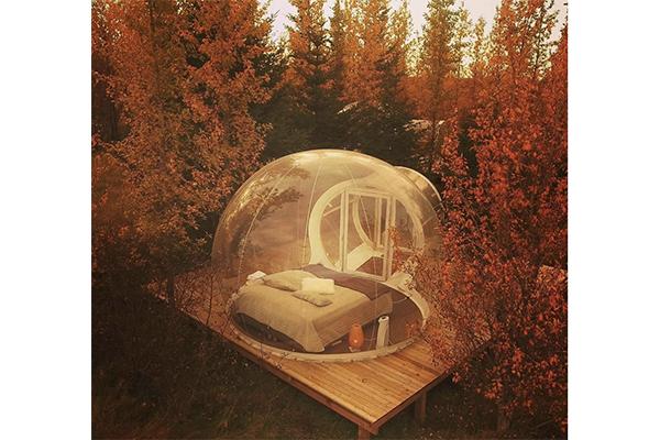 透明なテントで大自然を満喫。冬はオーロラも見れちゃうアイスランドのホテルがロマンティック♡