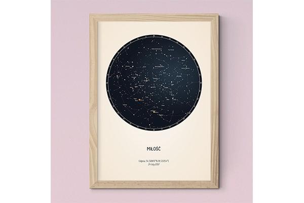 誕生日や記念日の星空をプレゼント♡パーソナライズできる星図ポスターがロマンティック