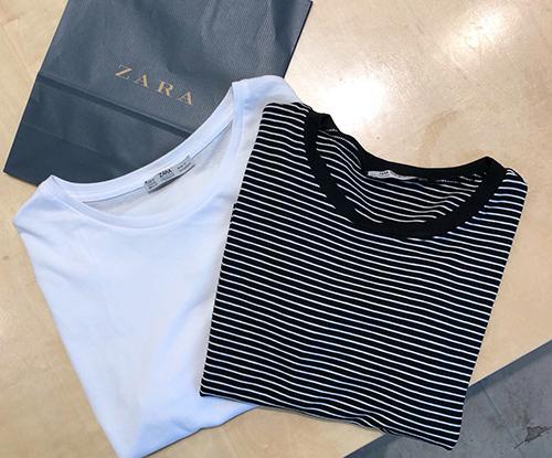 ZARAのプチプラTシャツをピックアップ♡1190円で着まわし力抜群な優秀アイテムでした