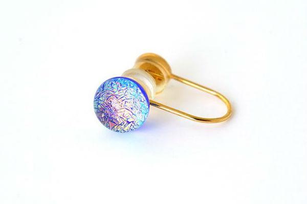 百人一首の歌をイメージした京ガラスがきらり☆ピアスみたいなイヤリング『ぴあり』をチェック♩