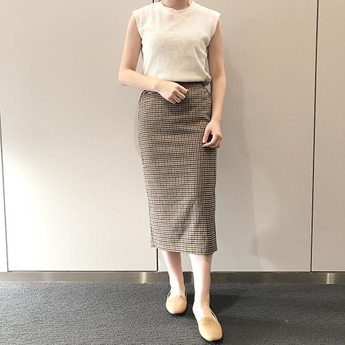 秋っぽアイテム先取りしちゃお!今週のGU新作は注目の柄「ガンクラブチェック」のタイトスカートがおすすめ♡