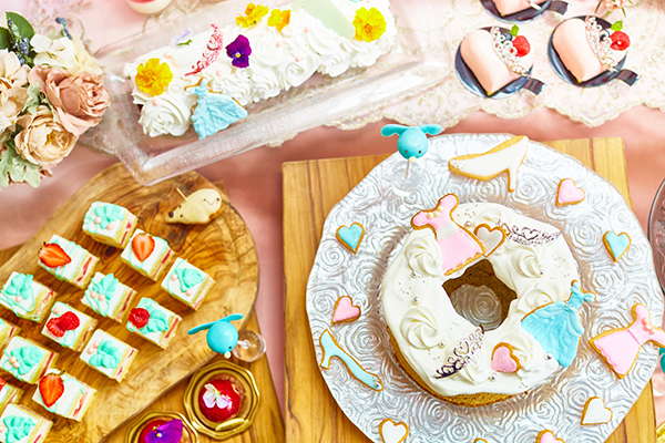 憧れのプリンセス気分で♡青山のお城みたいな結婚式場でロマンティックなスイーツブッフェが開催