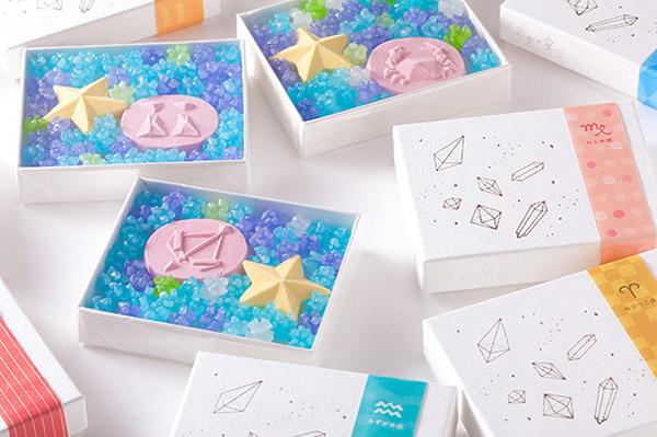 """星座デザインの和三盆と夜空みたいな""""金平糖""""入り♡「乙女の星空」がヴィレヴァンオンラインに登場"""