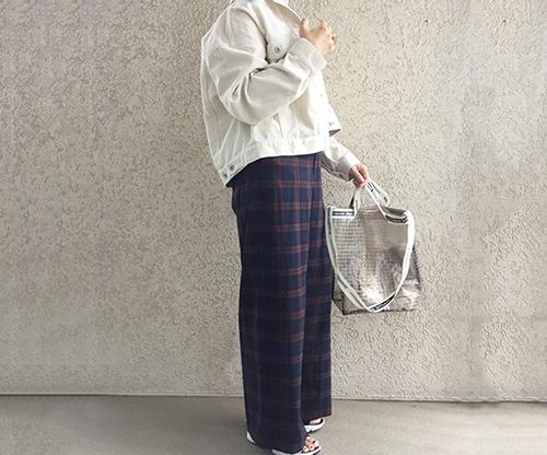 GU新作のチェックパンツがかわいい♡きれいなシルエットで大人見えも叶えてくれる優秀アイテムでした!