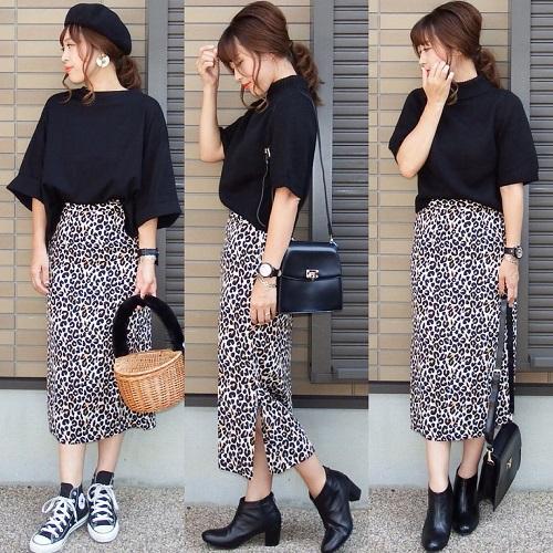 かっこかわいいはレオパード柄で叶える。プチプラ韓国通販「zemma world」のレオパードスカートがこの冬マストバイな予感♡