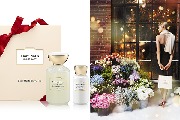 Flora Notis JILL STUARTのホリデーコレクションが登場!リボンで包まれたボックスには素敵な香りのアイテムが♡