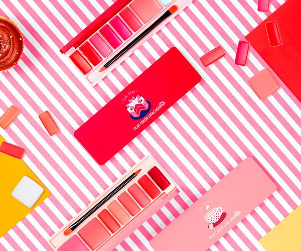 リップもチークもパレット1つで♩エチュードハウスから8色セットの「プレイカラーリップ&チーク」が発売