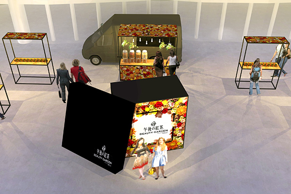 """""""午後の紅茶""""の限定ショップが渋谷に!""""ニコライ バーグマン フラワーズ & デザイン""""とのコラボドリンクがかわいい"""