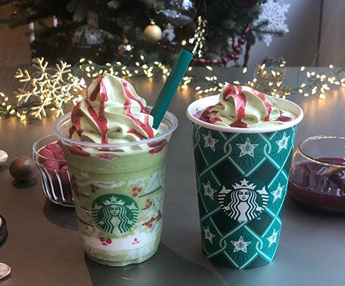 スタバ新作からピスタチオ風味の2種類が登場!クリスマス気分に浸れるドリンクを早速飲んできた♡
