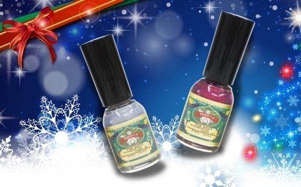 爪に優しい「胡粉ネイル」今年のクリスマス限定セットはキラキラのイルミネーションカラー♡