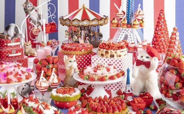 甘酸っぱい×モフモフの最強コラボ♡ヒルトン東京で悶絶キュートな「いちご&にゃんこ」ブッフェが開催!