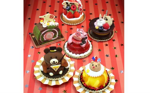 テーマは「冬のサーカス」ユーハイム・ディー・マイスター、冬の新作にキュートな動物ケーキが勢ぞろい♩