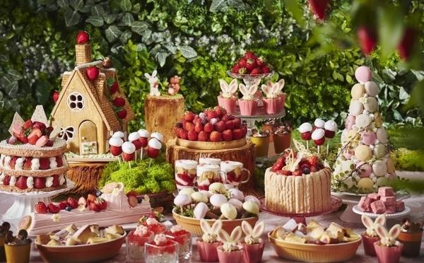 リーガロイヤルホテル大阪、いちごブッフェ第2弾はキュート&ファンタジックな「いちごの森」がテーマ♡