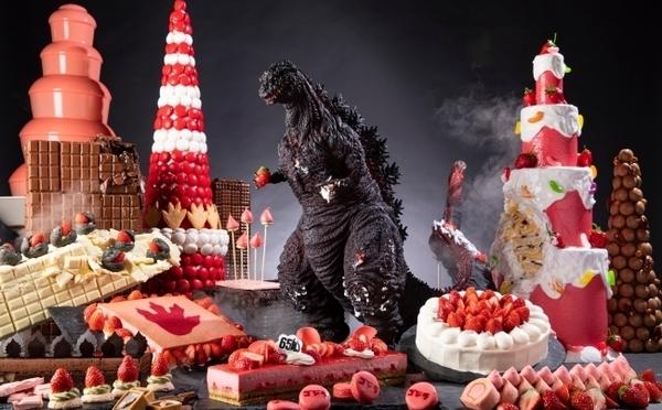 イチゴ×ゴジラが異色コラボ♩ストリングスホテル東京インターコンチネンタルの「イチ・ゴジラ」ブッフェが斬新すぎる!