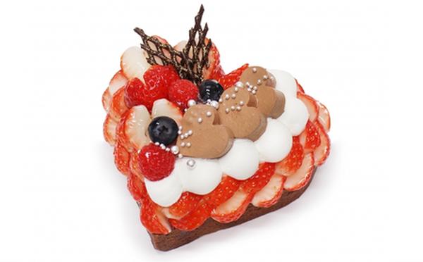 ふたりでシェアするハート型♡カフェコムサ「恋みのり」いちごを使ったバレンタイン限定ケーキがかわいい♩