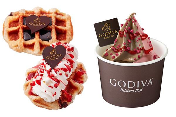 トッピングも選べるゴディバ ショコワッフルがバレンタイン期間限定で登場♡今だけの特別なソフトクリームも!
