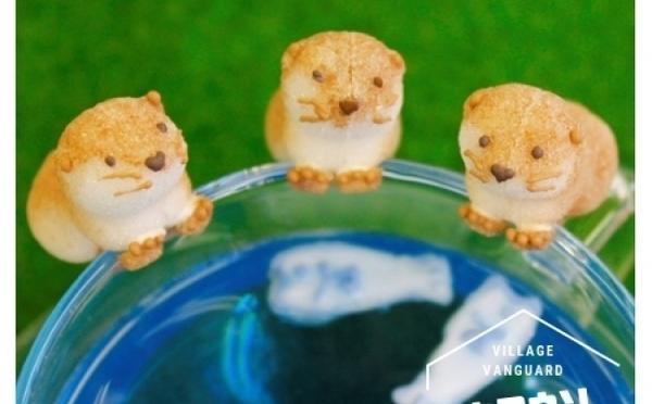 小さな手でカップにつかまるよ♪ヴィレヴァンオンライン「動物シュガー」に水族館の人気者カワウソが仲間入り♡