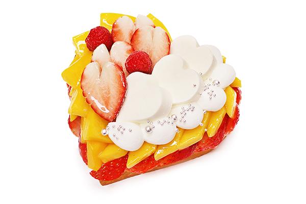 カフェコムサに期間限定で「紅ほっぺ」いちごとマンゴーのケーキが♩ハート型のホワイトデー限定ケーキは要予約