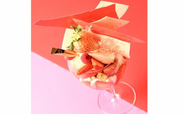 白いちご淡雪×ルビーチョコの贅沢仕立て♩デリーモ日比谷店限定パフェがまさにご褒美スイーツ♡