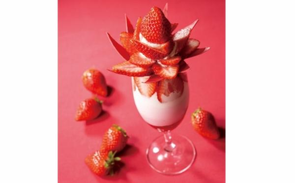 1週間だけの贅沢な出会い♡断面が美しすぎるイチゴ「やよいひめ」のボンボンパフェが原宿にお目見え!
