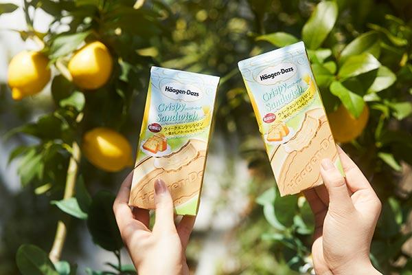 ハーゲンダッツによる「レモンガーデン」が1日限定で南青山に登場!新作クリスピーサンドを数量限定で無料配布