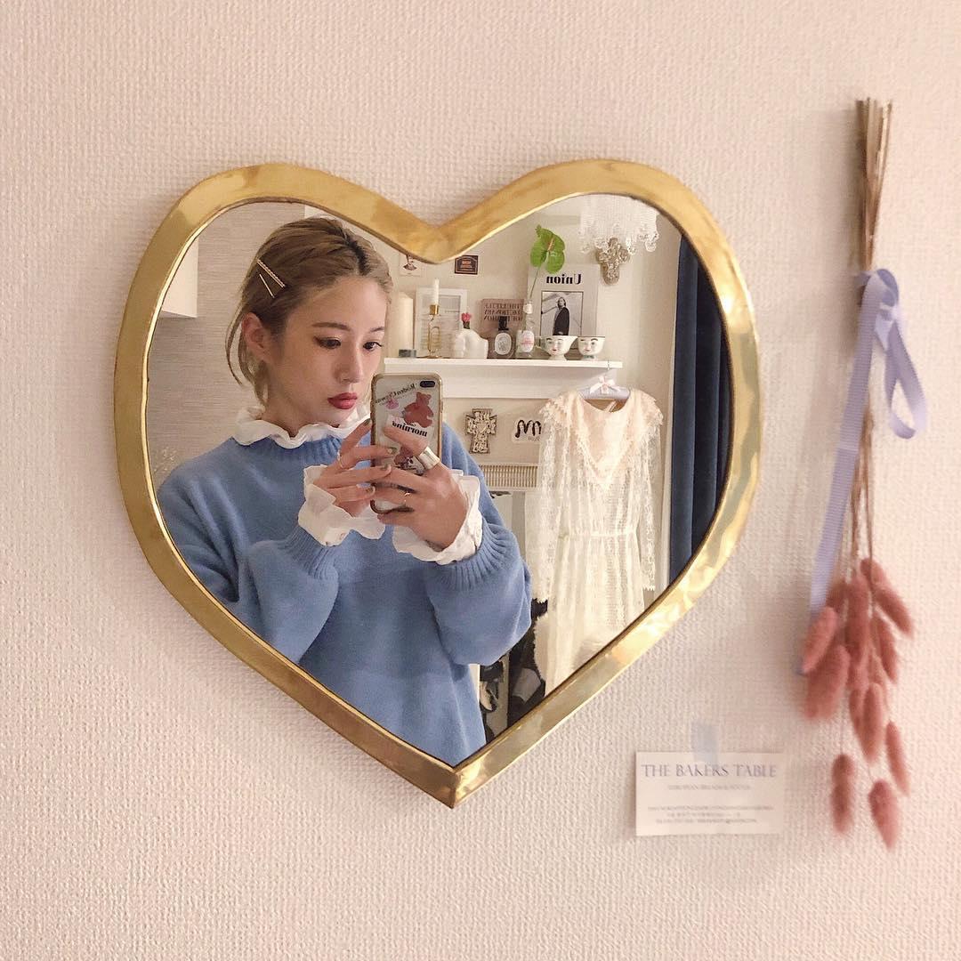 鏡越しのおしゃれな私が撮れる!「mocoMOROCCO」のハートミラーでつくる憧れのマイルーム計画♡