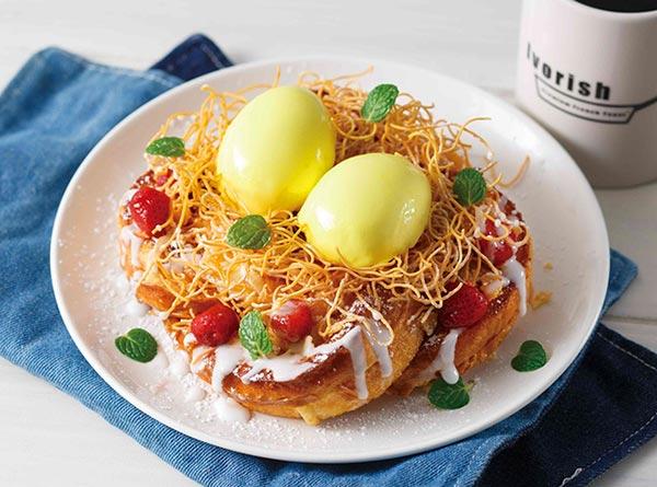 たまご型のパンナコッタがちょこん♡フレンチトースト専門店にイースター限定のオリジナルメニューが登場