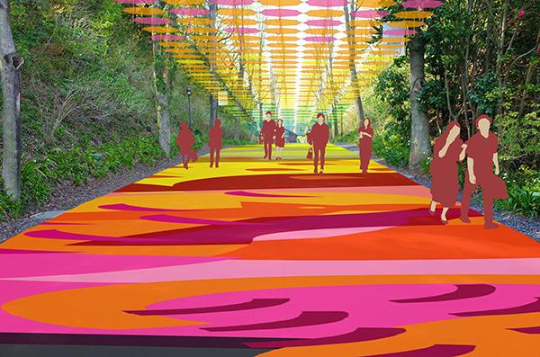 """1000本の傘で彩られるカラフルでドラマチックな空間♡国内最大級の""""アンブレラスカイ""""がメッツァビレッジに"""