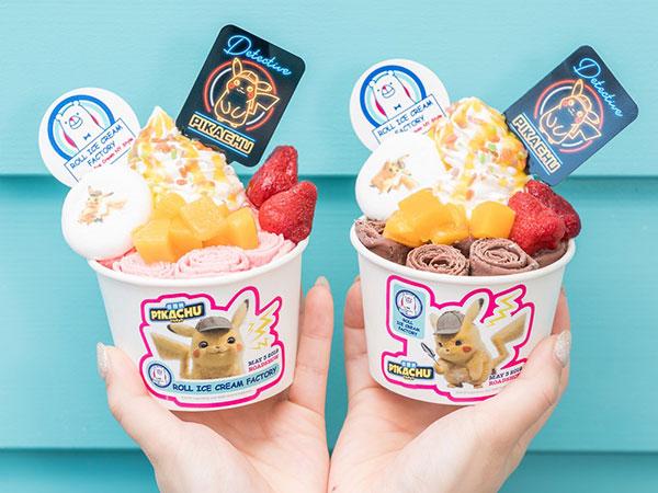 5月16日まで販売延長中!ロールアイスクリームファクトリーの『「名探偵ピカチュウ」ロールアイス』がかわいい♡