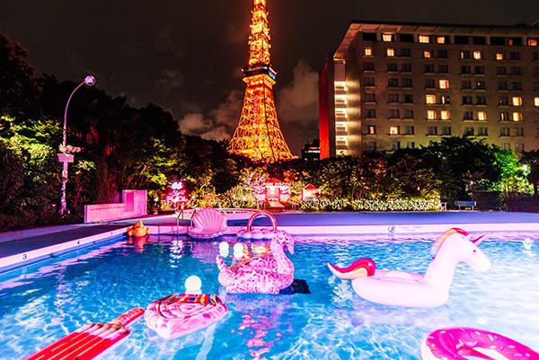 テーマは「ムビジェニ」!CanCamがプロデュースするゆめかわなナイトプールが東京プリンスホテルにオープン