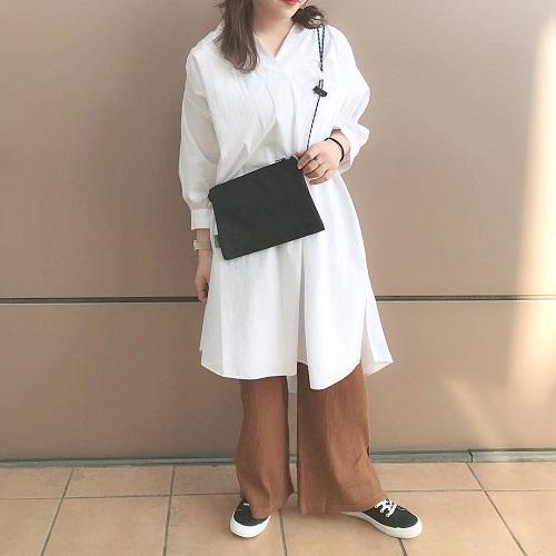 今年の夏トレンド予測。GUの「Aラインシャツワンピ」は神シルエットで着やせして見える優れものって噂♡
