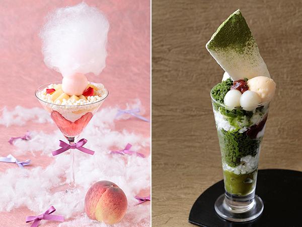 ふわふわの綿菓子がのった桃デザートに抹茶氷パフェも!リーガロイヤルホテル京都で夏スイーツを楽しみたい♡