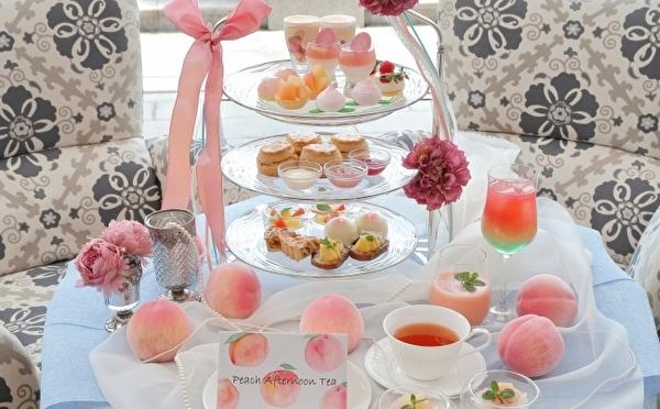 かわいすぎるピンクの桃づくし♡ラ・スイート神戸ハーバーランドに「ピーチアフタヌーンティー」が初登場♩