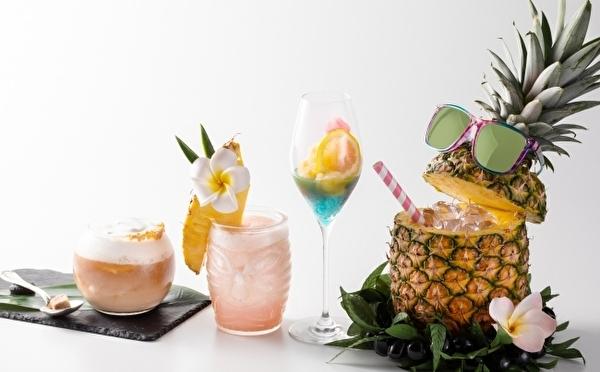陽気な「パイン タピ男」は見逃せない!東京マリオットホテルの夏季限定ハワイアンカクテルはオトナかわいい4種類♡