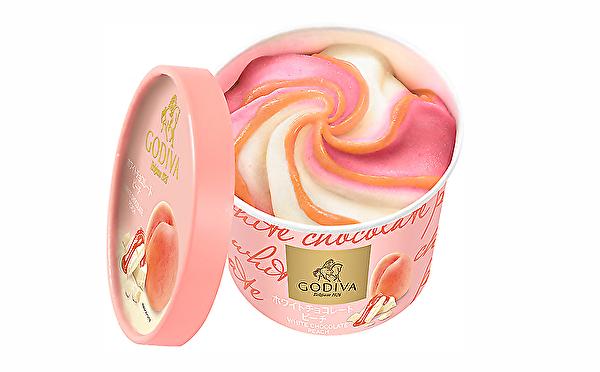 コンビニで買える至福のご褒美♡ゴディバの新作アイスはツートンカラーがかわいい「ホワイトチョコレート ピーチ」