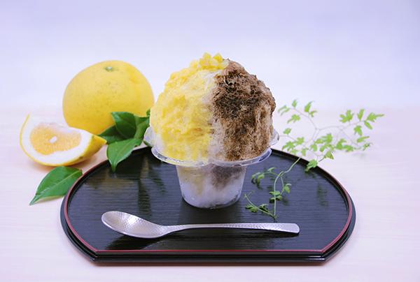 お茶屋さんが挑戦する「ほうじ茶と美生柑(みしょうかん)のかき氷」が気になりすぎる♡