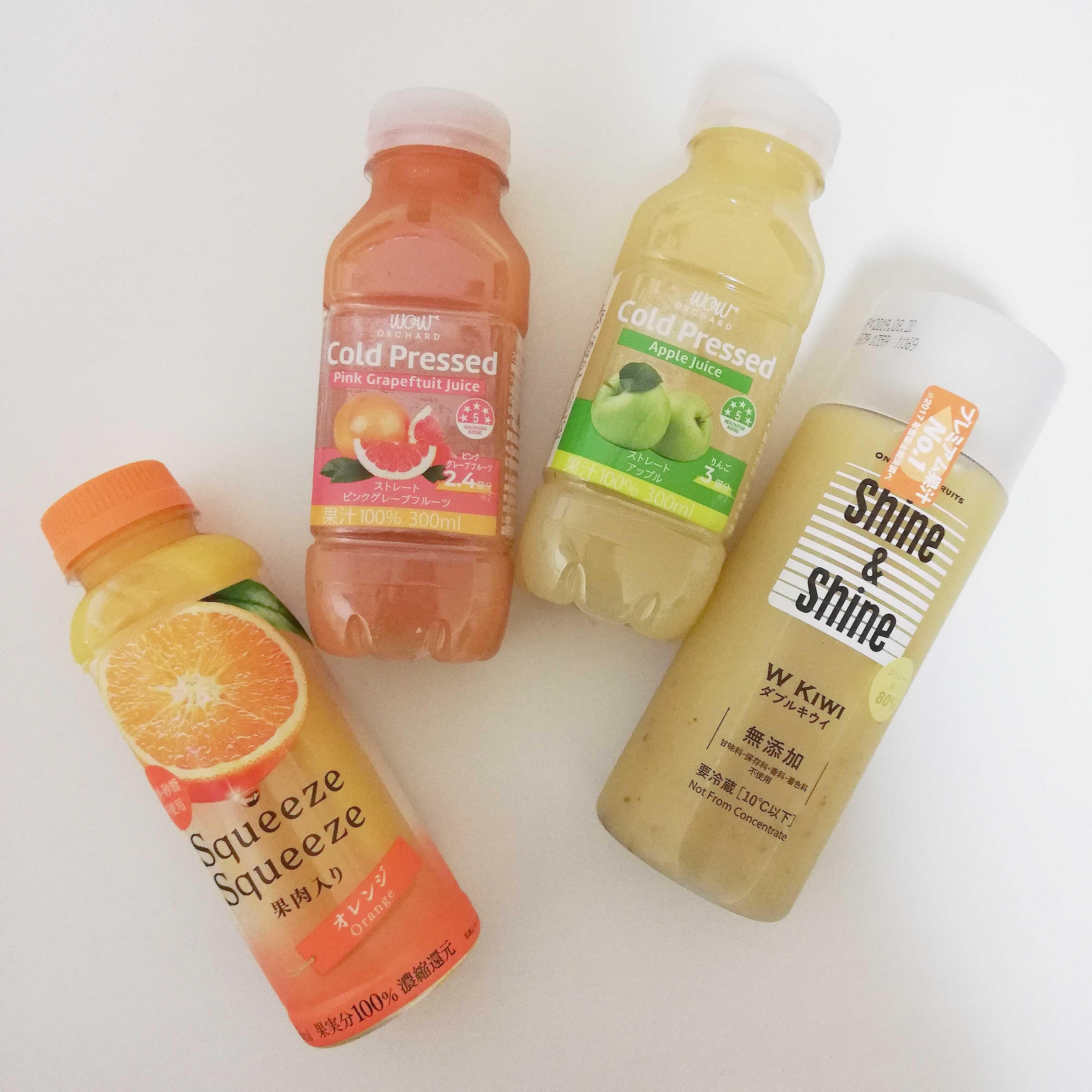コンビニで買えちゃう「フルーツジュース」がどれも本格的すぎるって知ってた?今回は4種類を比較しました♡