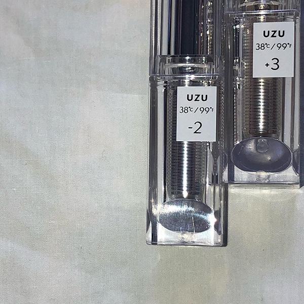 やっぱりいちばん人気の-2℃をGETする?UZUの新作リップ2種類は、そのパッケージにも注目なんです♡
