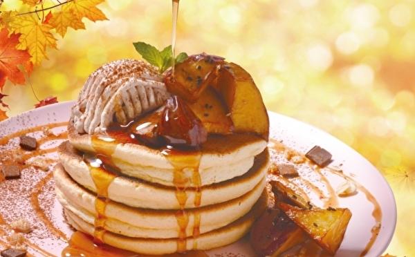 モンブラン&大学いも、秋スイーツをひとりじめ!揺れるパンケーキ「ベルヴィル」の欲ばり仕立てな秋限定メニュー♡