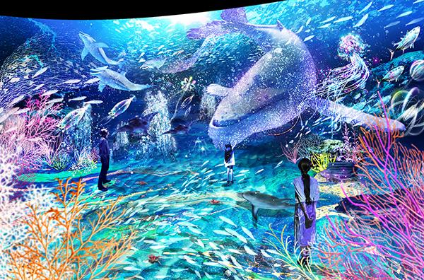 息をのむほど美しい光の深海の世界を体験♡「オーシャン バイ ネイキッド 光の深海展」が横浜駅直通のアソビルで
