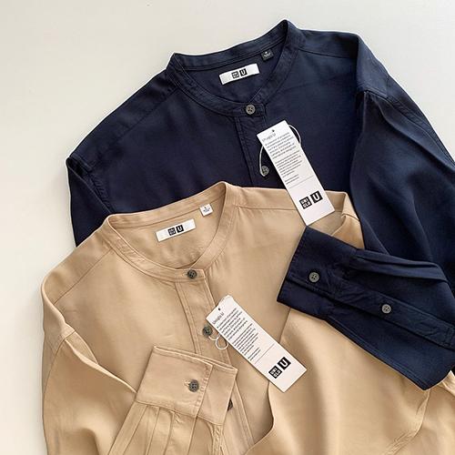 ユニクロユーの「スタンドカラーシャツ」がおしゃれさんも間で密かに話題!高見え間違いなしの優秀アイテムでした♡