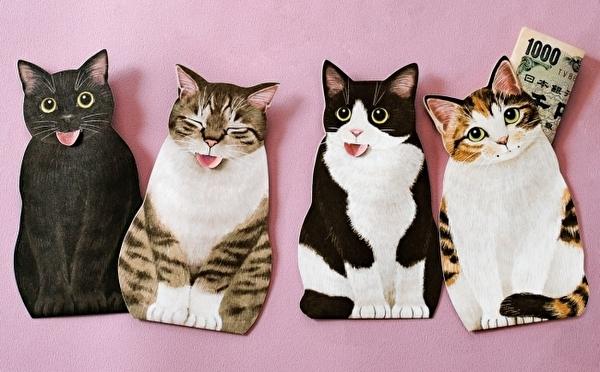 かわいすぎるペロリ顔がたまらない♡フェリシモ猫部に登場したポチ袋は「猫の舌しまい忘れ」がモチーフ!