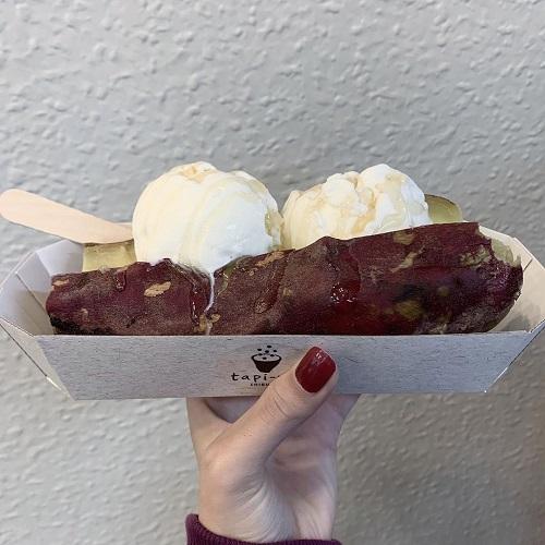 神コラボとはこのこと。よだれが出ちゃいそうなくらい美味しそうな「焼き芋アイス」から目が離せない♡