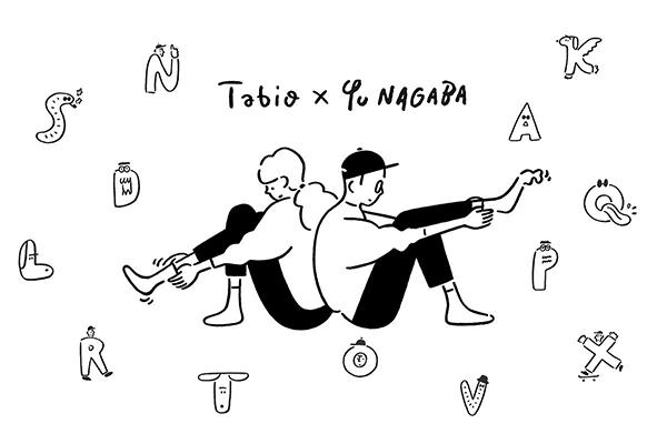 """後ろ姿が最高にかわいい♡長場雄さん描き下ろし""""アルファベットソックス""""は片足ずつ好きな文字を購入できます"""